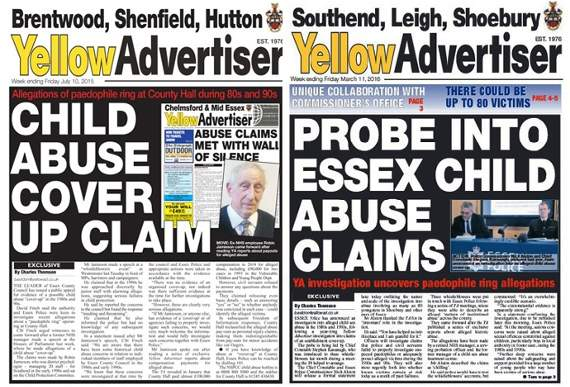 Yellow Advertiser chosen for 'Power of News' exhibition after reports sparked historic child sex probe by Essex Police