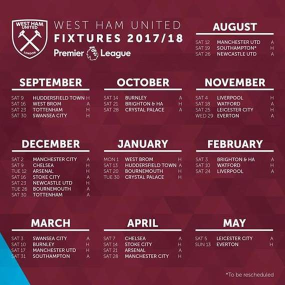 Premier League announces fixtures for 2017/18 season - Who do Chelsea play first?