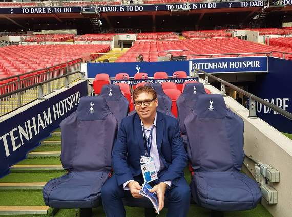 Yellow Sports Brian Jeeves reporting from Wembley Stadium